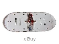 10 x RV LED 12v Fixture Ceiling Camper Trailer Marine Double Dome Light