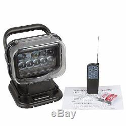 12v 50w Remote Search Light Work Spot Cree Led Lights Hunting Marine Boat Car