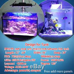 165W LED Aquarium Lighting Dimmable Spectrum For Coral Reef Marine Fish Tank SPS