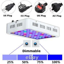 180W LED Aquarium Light Dimmable Tank Marine Fish Plants Coral Coral Reef Lamp