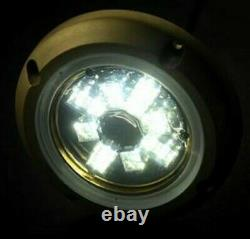 2 WEST MARINE Round 12 LED Underwater Lights with Bronze Housing RGBW with Controler