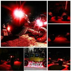 20pcs Red Waterproof LED Rock Lights For Offroad Marine ATV Trail Rig Underbody