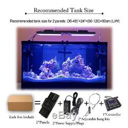 2PCS WiFi Timer Aquarium LED Dimmable Light Full Spectrum Marine Coral Reef Fish