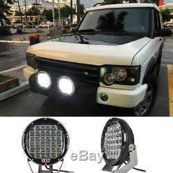 2X 9inch 160W LED Driving Lights 4WD Truck Jeep Marine Spot Reverse Lamp OffRoad