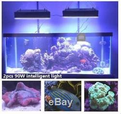 2pcs Dimmable WIFI LED Aquarium Light Coral Reef Saltwater Marine Fish Tank New