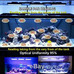 3 165W LED Aquarium Light for SPS/LPS Coral Reef Marine Full Spectrum Dimmable