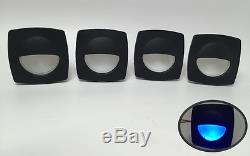 4 Pieces Pactrade Marine Boat LED RV Trailer Blue Square Shape Courtesy Light
