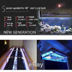 48 4ft Led Aquarium Light Saltwater Marine Fish Coral Reef Programmable SPS LPS