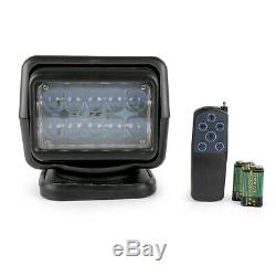 50W LED Remote Control Search Marine 360° Spot Work Light Boat Truck SUV
