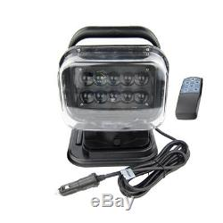 50W Spot Remote Control LED Search Light 360° For Jeep Truck Marine Car IP 67 US
