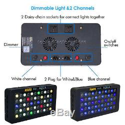 6PCS MarsAqua Dimmable 165W LED Aquarium Light Full Spectrum Reef Coral SPS LPS