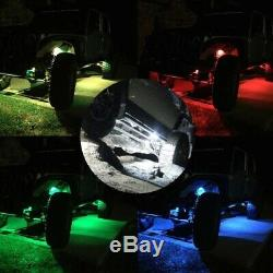 8 Double Pods Off road RGB Led Rock Light Kit For 4X4 SUV Truck Boat Deck Marine