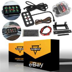 8 Gang LED Touch Switch Panel Box Universal Control System 12V 24V Auto Marine