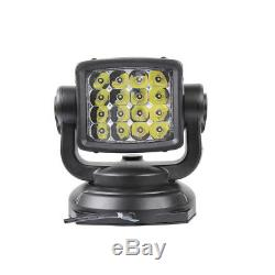80W Cree LED Marine Remote Control Spot Light Offroad Truck Car Boat Search Lamp