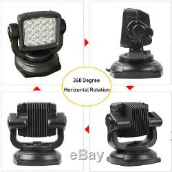 80W Cree Spot LED Marine Remote Control Search Light Magnetic Offroad Truck Boat