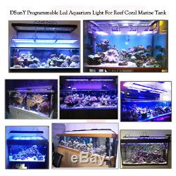 96/8ft Led Aquarium Light Dimmable For Marine Tank Reef Coral Light Saltwater