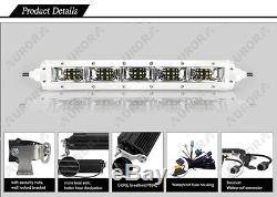Aurora 20 Inch LED Single Row Marine(White) Series Light Bar Scene Beam 100W
