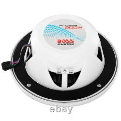 Boss Audio MRGB65 Coaxial 200W Boat Marine Speakers 6.5 with RGB LED Lights NEW