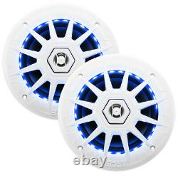 Boss Audio MRGB65 Coaxial Marine 6.5 Speakers withRGB LED Lights