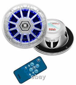 Boss Audio MRGB65S 6.5 200W Boat Marine Speakers with RGB LED Lights and Remote