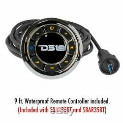DS18 35 Waterproof Marine Speakers Amplified Sound Bar RGB Lights Bluetooth