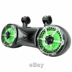 DS18 6.5 Wake board Tower Speakers RGB LED Lights 750W Marine