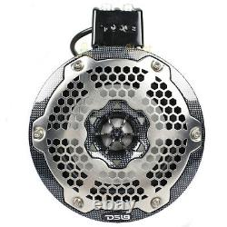DS18 8 Marine Tower Speakers with RGB LED Lights 370W Carbon Fiber CF-X8TP