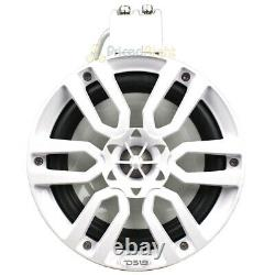 DS18 8 Marine Tower Speakers with RGB LED Lights 375W Max White NXL-X8TP/WH