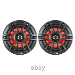 DS18 HYDRO 8 2-Way Marine Speakers withRGB LED Lights 375W Matte Black