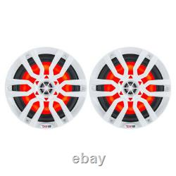 DS18 HYDRO 8 2-Way Marine Speakers withRGB LED Lights 375W White