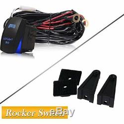 For Dodge RAM 1500 2500 3500 50Inch Curved LED Light Bar + 4 Pods Wiring Kit x2