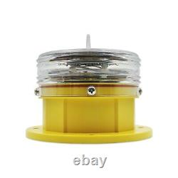 GMET Solar Panel Built-in Powered marine LED lights For Buoy Aquaculture 1 Y/W