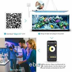 LED Bluetooth Control Panel Light Coral Lamp Plant Growth Marine Freshwater Bulb
