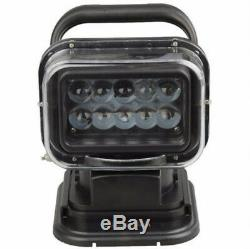 LED Marine Remote Control Spotlight Offroad Truck Car Boat Search Light 50W
