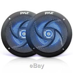 Lot of (16) Pyle PLMRS43BL 4 100W Low-Profile Marine Speakers with LED Lights