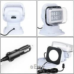 Marine Remote Cree LED Control Search Spot light Offroad Truck Car Boat Reliable
