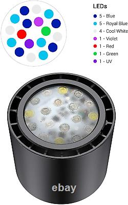NICREW 30W Reef LED Aquarium Light, Dimmable Marine LED Light with Dual Channel