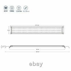 NICREW ClassicLED Aquarium Light, Fish Tank Light with Blue and White LEDs, 25W