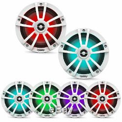 New Infinity 622MLW 225 Watts 6.5 2-Way Marine Speakers Built In RGB LED Lights