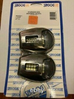 New SEA DOG Marine Gear 405950-1 PAIR of STAINLESS 12v LED BOAT DOCKING LIGHTS