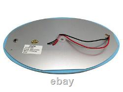 Pactrade Marine 1PCS White Blue Oval LED Ceiling Courtesy Light Mirror Touch