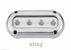 Pactrade Marine 2PCS Ultra Bright White LED S. S Underwater Light Surface Mount