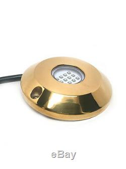 Pactrade Marine 2SETS Blue Cree LED Underwater SS316 Gold Housing Surface Mount