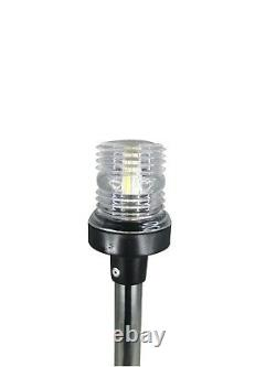 Pactrade Marine Boat LED All Round Anchor Plug-in Light SS Pole 24 withCollar 12V
