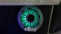 Pair of MB Quart NK1-116L 6-3/4 marine speakers with built-in LED lights
