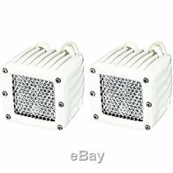 Rigid Industries 60251 D-Series Marine 4 LEDs Diffused LED Lights -Set of 2