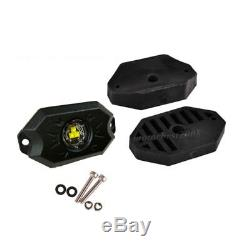 Set 6 Yellow LED Rock Light Strobe Flash Control Fit For Truck Marine SUV Boat