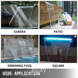 Waterfall Spillway Color Changing LED Lighted Spillway36.2 Pool Fountain Garden